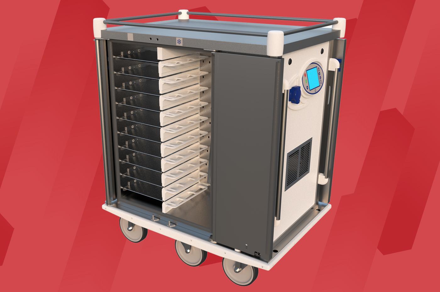 Chariot de distribution de repas Erg'Elec