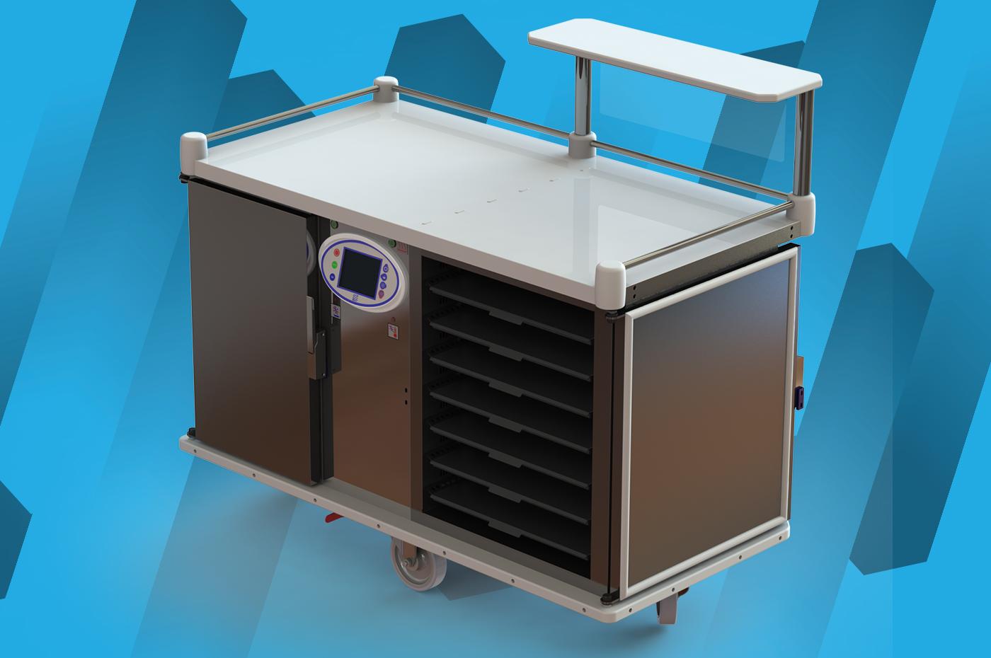 Chariot de distribution de repas Restiself 4G