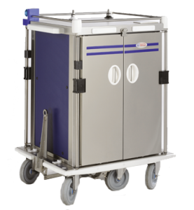 trolley with cold production using glycol water