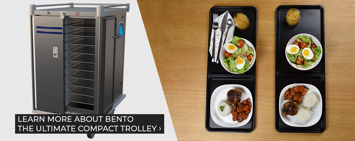 Bento trolley with meal tray